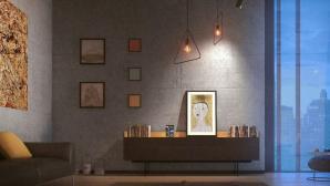 Meural Canvas II an der Wand©Netgear, Meural