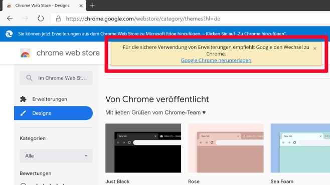 Chrome Web Store©COMPUTER BILD