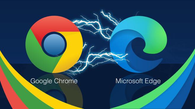 Chrome vs. Edge©Google, Microsoft