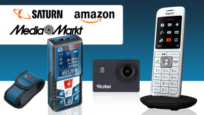 Amazon, Media Markt, Saturn: Die Top-Deals des Tages! © Media Markt, Saturn, Amazon, Rollei, Gigaset, Bosch