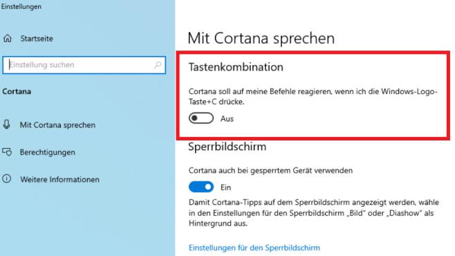 Windows 10: Cortana öffnet sich von selbst - woran das liegt und was hilft Nach Umlegen des Schalters bleiben Sie von möglichem Cortana-Bedienstress verschont.©COMPUTER BILD