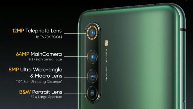 X50 Pro 5G: Vier Kameras auf der Rückseite©Realme