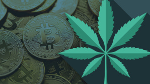 Bitcoin mit Cannabis©iStock.com/bortonia, iStock.com/Nastasic