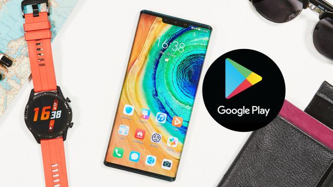 Huawei-Smartphones unsicher! Google spricht Warnung aus Googles Play Store auf dem Mate 30 Pro und anderen Huawei-Neuheiten. Möglich, aber nicht sicher, sagt auch Google.©COMPUTER BILD