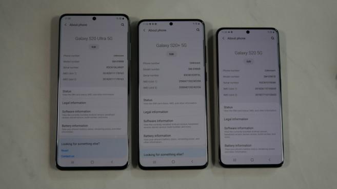 Samsung Galaxy S20 Ultra, S20 Plus, S20: Größenvergleich©COMPUTER BILD