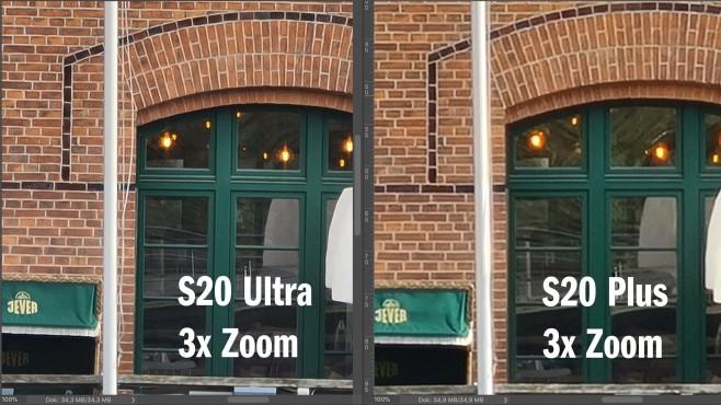 Samsung Galaxy S20 Ultra und S20 Plus: Zoom-Vergleich©COMPUTER BILD