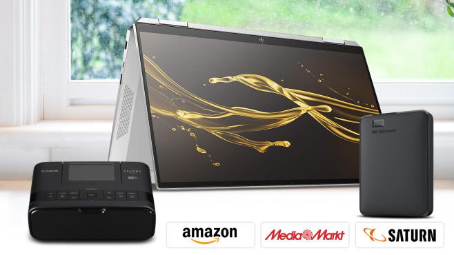 Amazon, Media Markt, Saturn: Die Top-Deals des Tages!©Amazon, Media Markt, Saturn, iStock.com/dlinca, HP, Canon, Western Digital