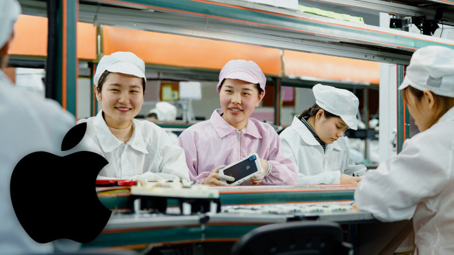 Produktionsstätte in China©Apple