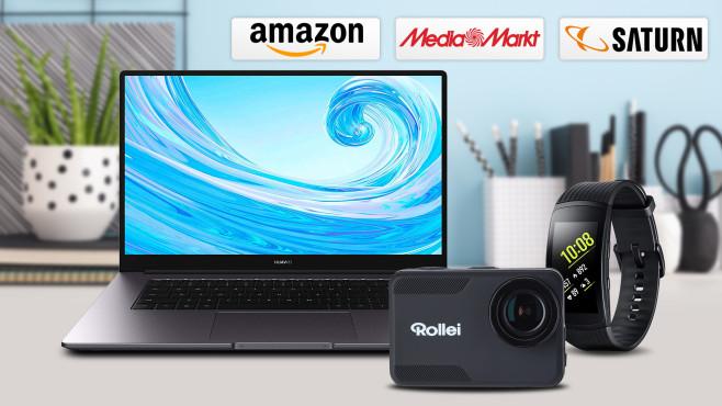 Amazon, Media Markt, Saturn: Die Top-Deals des Tages!©Amazon, Media Markt, Saturn, iStock.com/mallmo, Huawei, Samsung, Rollei
