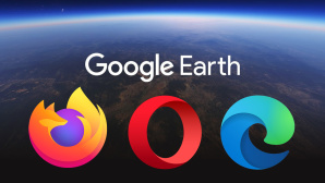 Google Earth © Google, Firefox, Opera