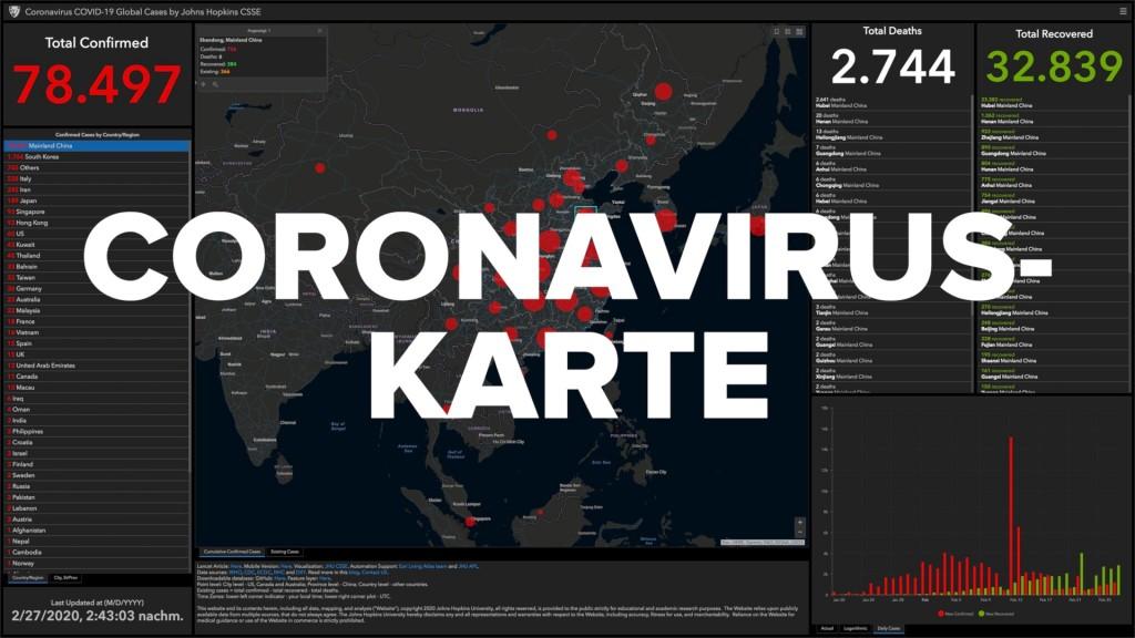 Coronavirus Die Interaktive Karte Der Pandemie Computer Bild