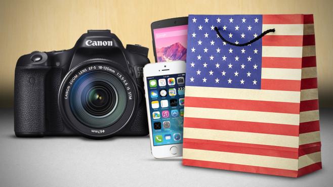 Ratgeber zum Technik-Kauf in den USA©Fotolia.com, Nikon, Apple, Google