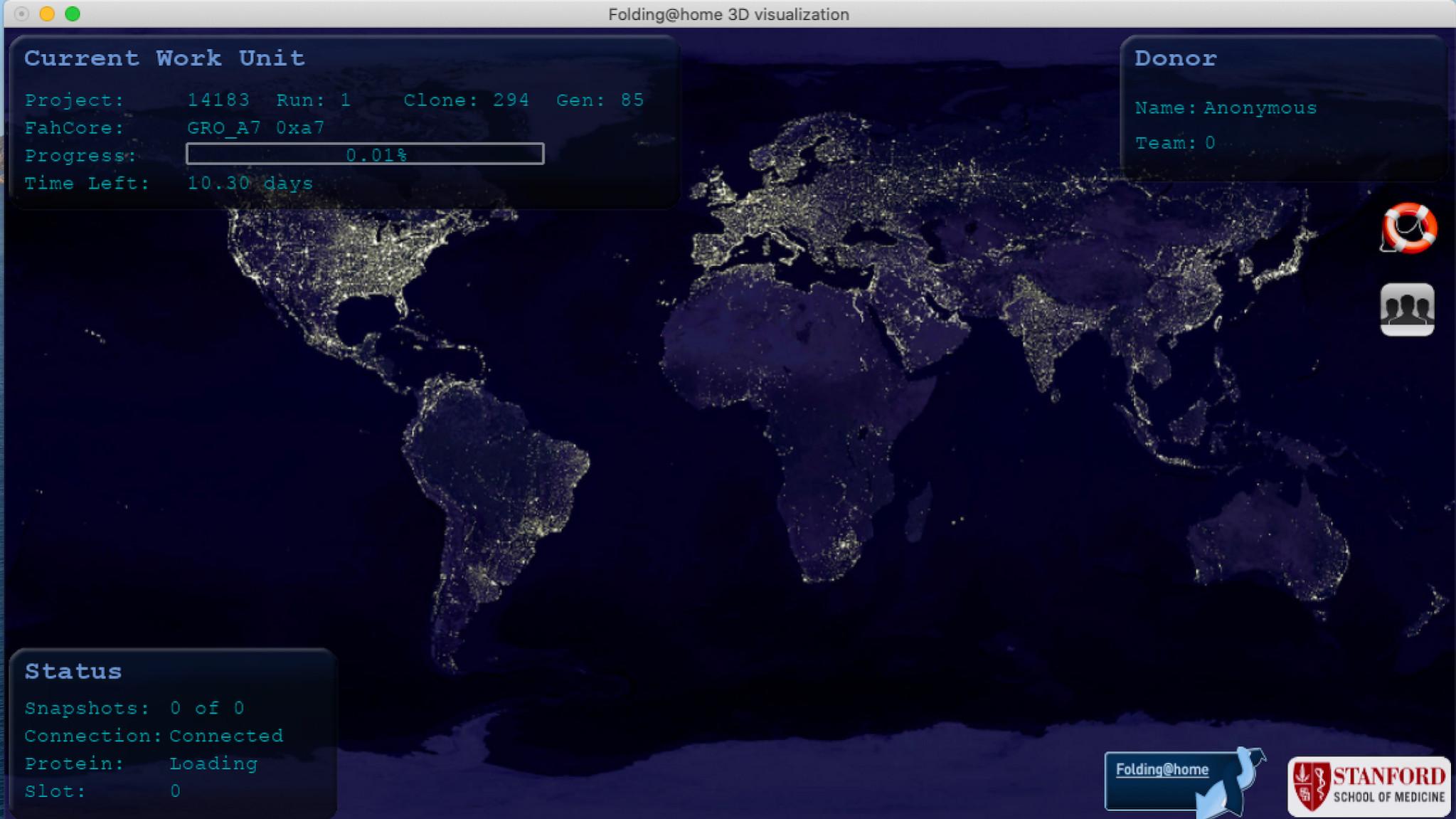 Screenshot 1 - Folding@home (Mac)