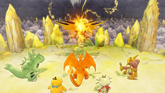 """Pokémon – Mystery Dungeon: Retterteam DX: Kleine Monster Untertage Natürlich gibt es auch in """"Mystery Dungeon"""" die altbekannte Geschichte der verschiedenen Teams, denen man im Spielverlauf immer wieder begegnet.©Nintendo"""