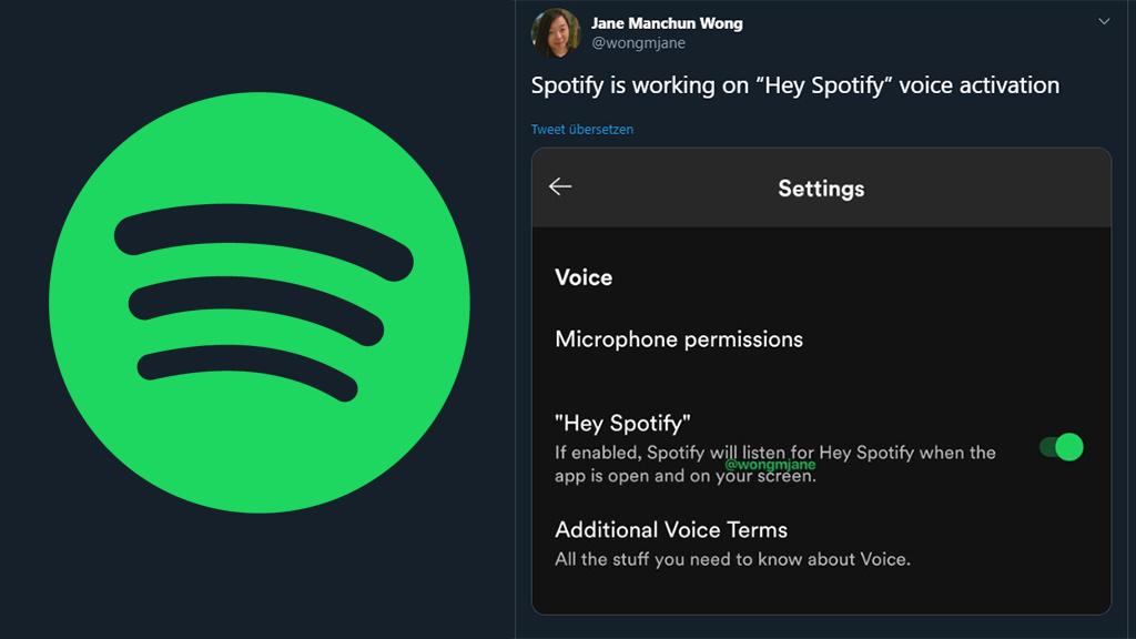 Hey Spotify Streaming Dienst Arbeitet An Sprachaktivierung Computer Bild