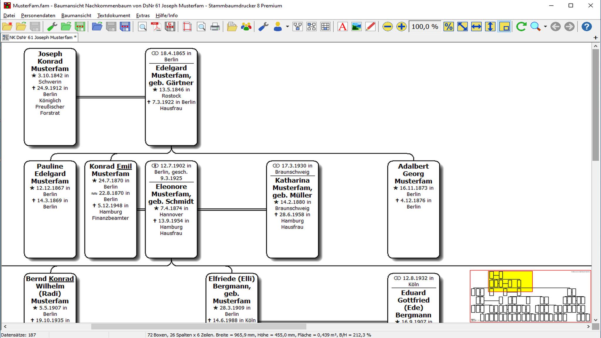 Screenshot 1 - Stammbaumdrucker