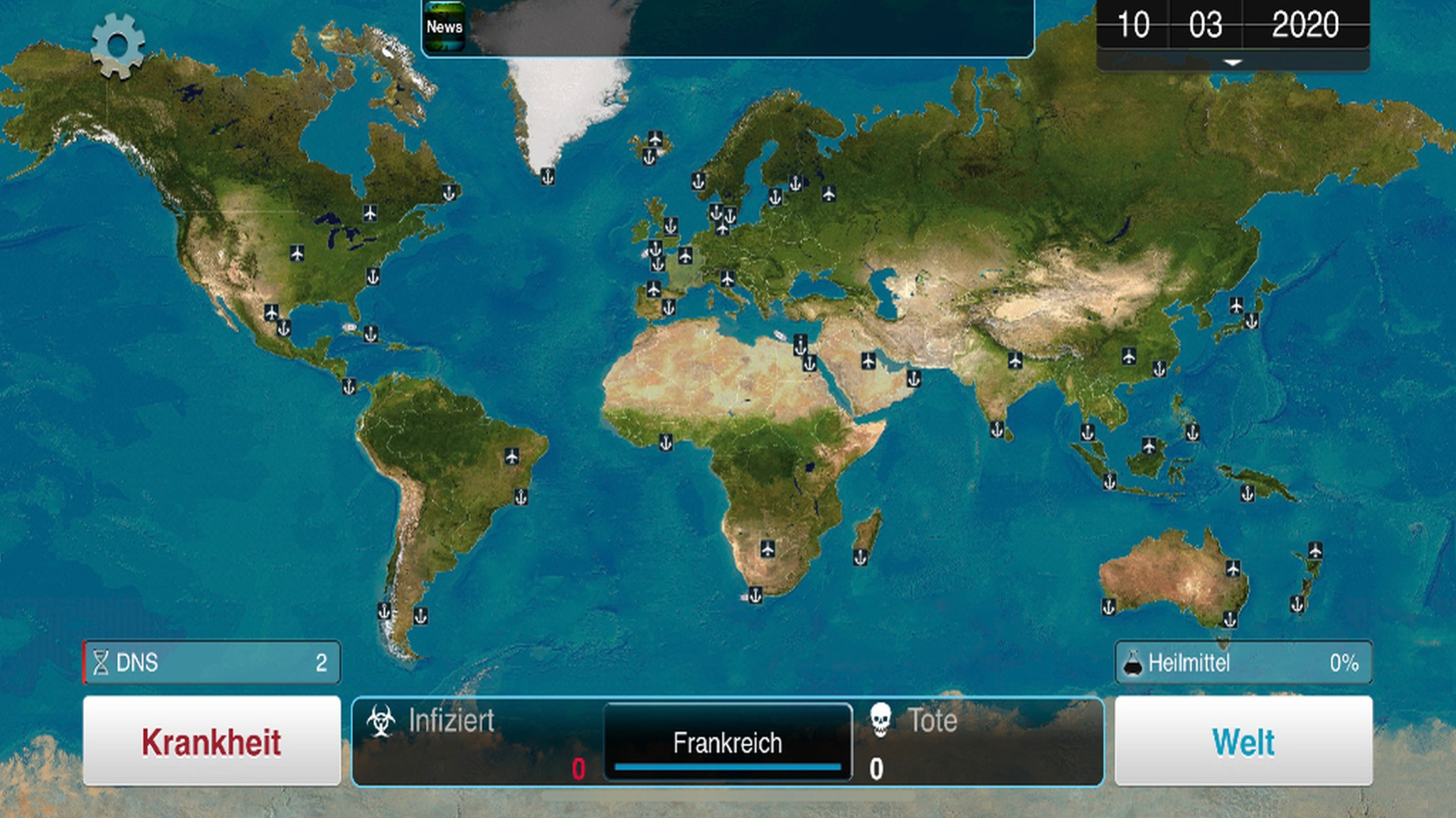 Screenshot 1 - Plague Inc. (App für iPhone & iPad)