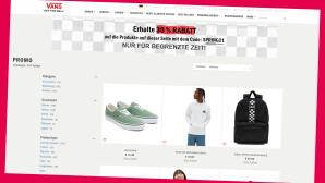 Frühlings-Deals im Onlineshop von Vans©Screenshot Vans-Shop