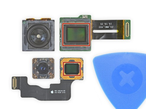 S20 Ultra-108-MP-Sensor vs. iPhone 11 Pro 12 MP-Sensor©iFixit