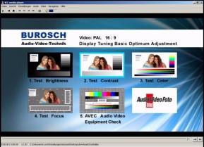 Fernseh-Testbilder – Audio Video Equipment Check