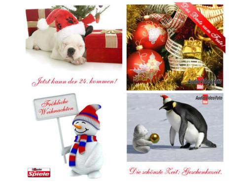 Lustige Weihnachts-E-Cards www.computerbild.de