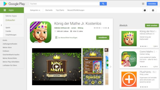 App König der Mathematik Junior©Screenshot https://play.google.com
