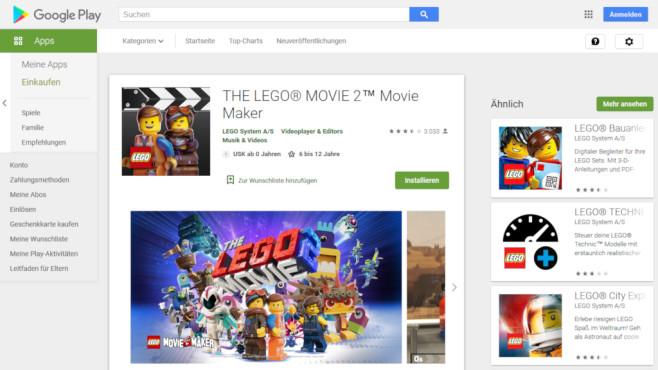 The Lego Movie Maker 2 App©Screenshot https://play.google.com