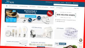 Neuer Spar-Deal bei Isolicht©Screenshot www.isolicht.com