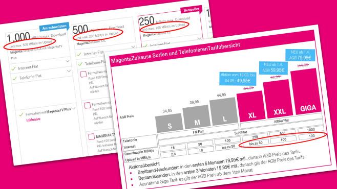 Telekom MagentaZuhause – Upload reduziert©Telekom