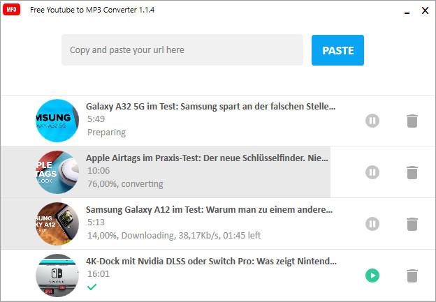 Screenshot 1 - Free YouTube to MP3 Converter