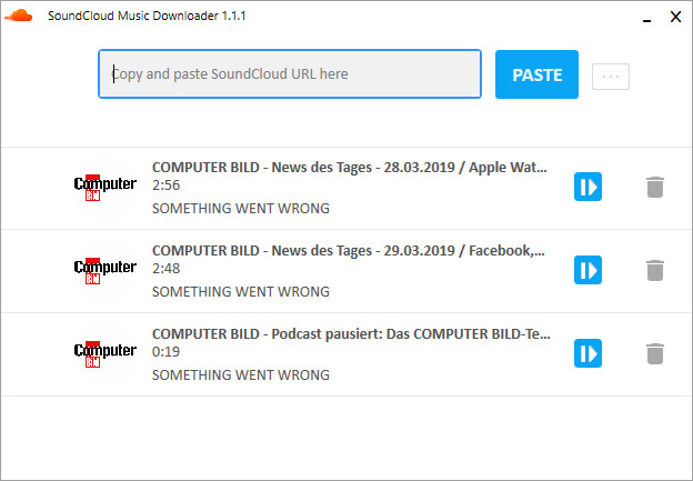 Screenshot 1 - Free SoundCloud Downloader