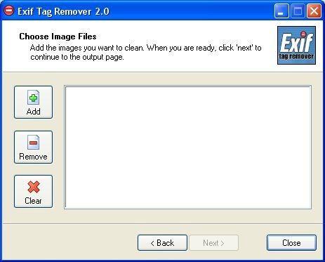 Screenshot 1 - Exif Tag Remover