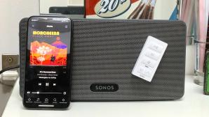iPort xPress Audio KeyPad: Smarte Sonos-Fernbedienung im Praxis-Test Gute Ergänzung für App-Steuerung: Die kleine Hardware-Fernbedienung regelt die Musikwiedergabe verbundener Sonos-Lautsprecher.©iPort, Sonos, COMPUTER BILD