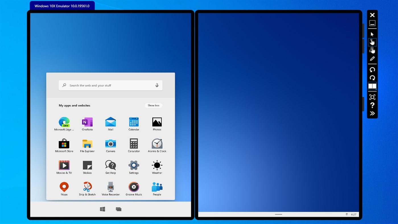 Screenshot 1 - Microsoft Windows 10X Emulator Image (Windows-10-App)