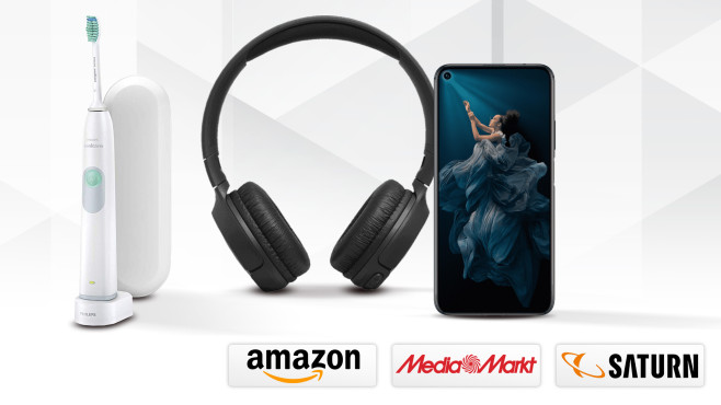Amazon, Media Markt, Saturn: Die Top-Deals des Tages! © Media Markt, Saturn, Amazon, Philips, Honor, Huawei, JBL, iStock.com/chanut iamnoy