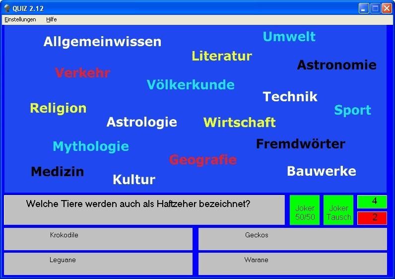 Screenshot 1 - Quiz