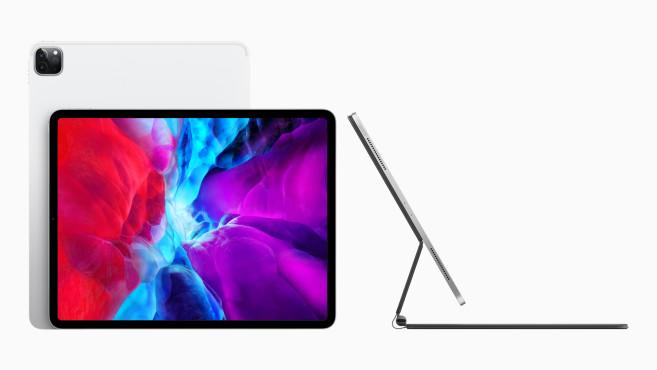 Das neue Magic Keyboard für das iPad Pro von der Seite©Apple