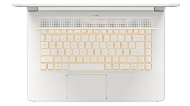 Beleuchtete Tastatur Acer ConceptD 7©Acer