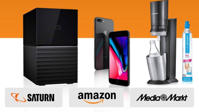Amazon, Media Markt, Saturn: Die Top-Deals des Tages!©Media Markt, Saturn, Amazon, Western Digital, Apple, SodaStream