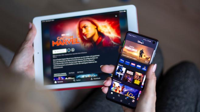 """Disney-Plus-App: Starttermin, Download und Funktionen Die """"Disney+""""-App ermöglicht Downloads der Inhalte.©COMPUTER BILD"""