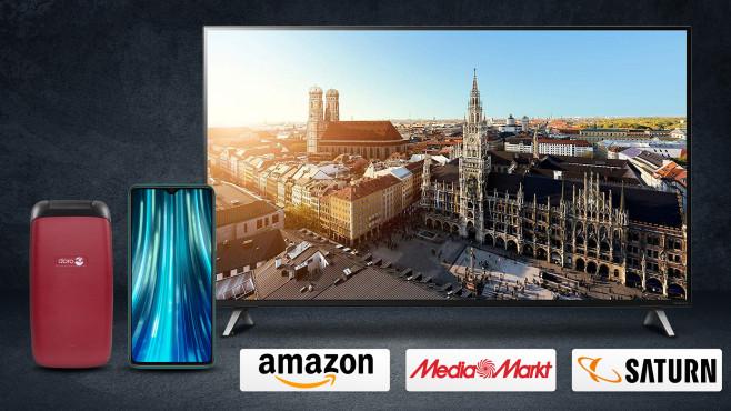 Amazon, Media Markt, Saturn: Die Top-Deals des Tages!©Media Markt, Saturn, Amazon, iStock.com/SonerCdem, LG, Doro, Xiaomi