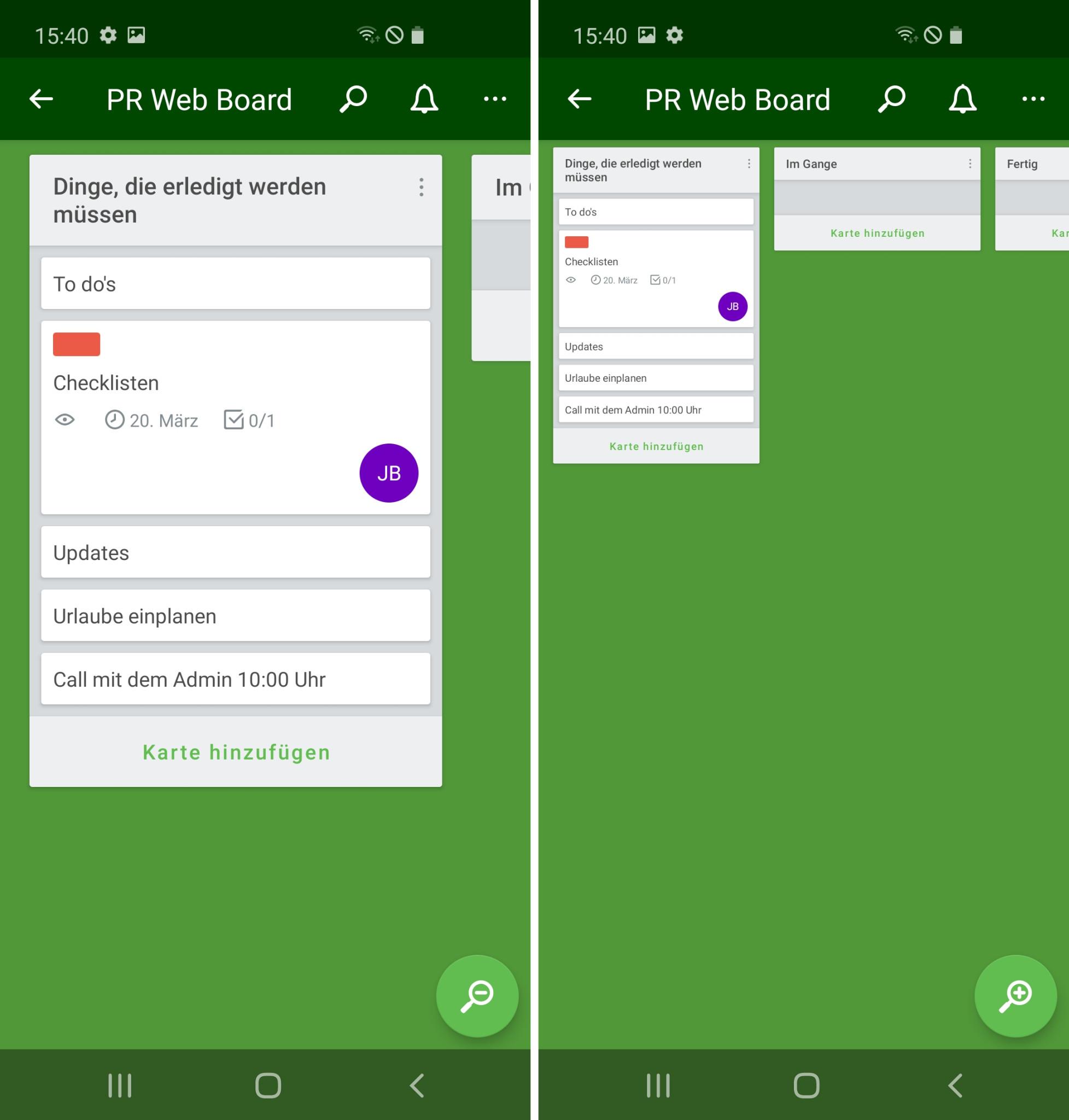 Screenshot 1 - Trello (Android-App)