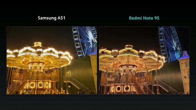 Kamera Xiaomi Redmi Note 9S vs. Samsung Galaxy A51©Xiaomi