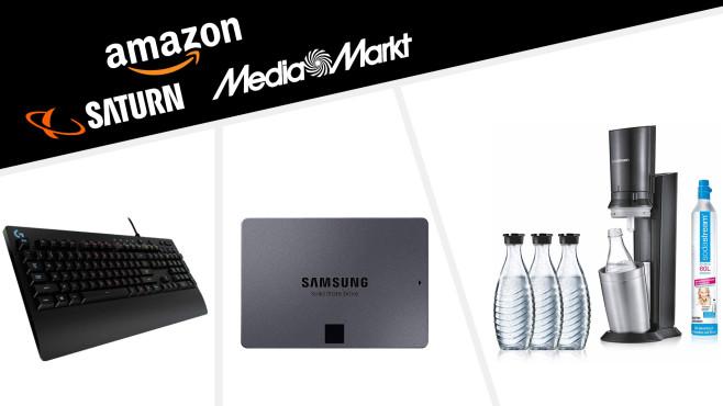 Amazon, Media Markt, Saturn: Die Top-Deals des Tages!©Saturn, Amazon, Media Markt, SodaStream, Logitech, Samsung