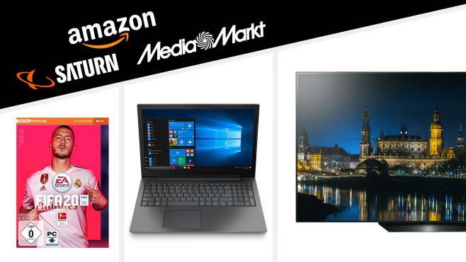 Amazon, Media Markt, Saturn: Die Top-Deals des Tages!©Saturn, Amazon, Media Markt, LG, Lenovo, Elektronic Arts