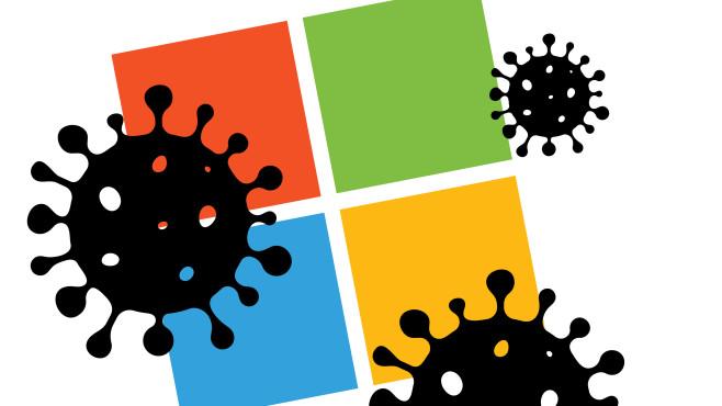 WIndows Logo: Coronavirus©iStock.com/designer29
