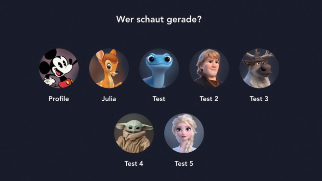 Nutzer hinzufügen©Screenshot: Disneyplus.de / COMPUTER BILD