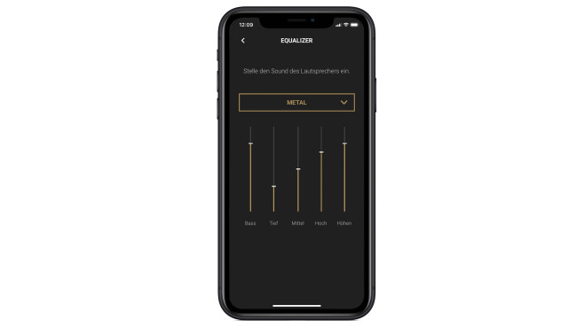 Marshall Uxbridge Voice im Test: Marshall-App mit Eqaulizer © Apple, Marshall