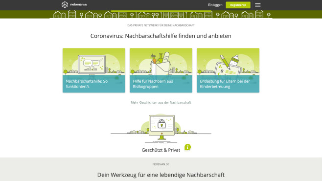 Nebenan.de: Die Nachbarschafts-Plattform©Nebenan.de