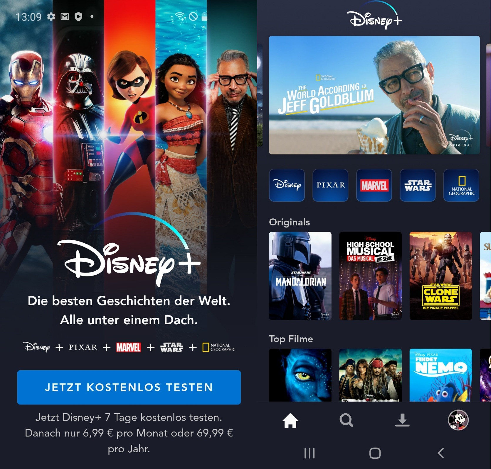 Screenshot 1 - Disney+ (Android-App)